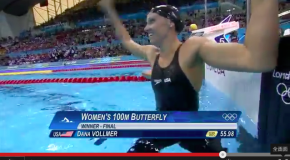 World Record – Women's 100m Butterfly – Dana Vollmer(ダナボルマー)