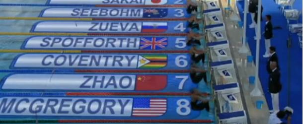 World Record – Women's 100m Backstroke – Gemma Spofforth(ジェマスポフォース)