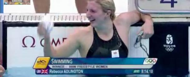 World Record – Women's 800m Freestyle – Rebecca Adlington(レベッカアドリントン)